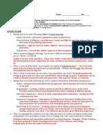 Evolution Study Guide2014 ANSWER KEY