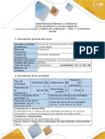 Guía de actividades y rúbrica de evaluación - Paso 1 - Entregar informe acción comunitaria