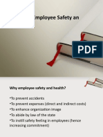 Unit 9 Employee Safety and Health
