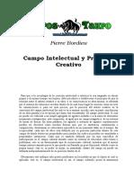 Bordieu, Pierre - Campo Intelectual Y Proyecto Creativo.doc