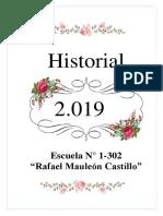 HISTORIAL 2019 Esc. Rafael Mauleón Castillo
