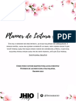 Planner de leitura bíblica - Jhio Araújo