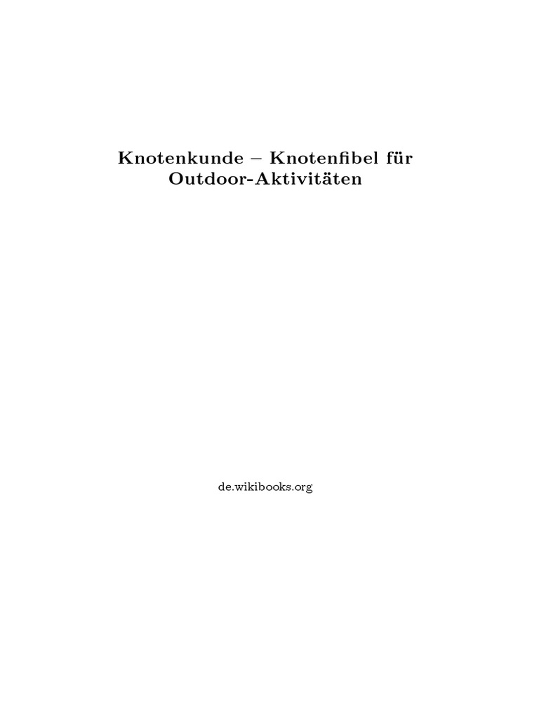 Knotenkunde   Free Content   Free Software