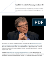 Why Bill Gates and others think the robot that steals your job should pay taxes - TechRepublic