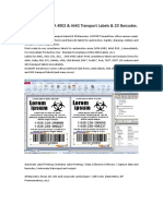How to Print VDA 4902 & AIAG Transport Labels & 2D Barcodes