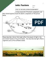 Ecology Abiotic Factors Unit Assessment / Homework for Educators - Download unit at www. science powerpoint .com