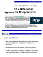 Setting an Educational Agenda for Cooperatives