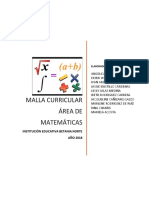 MALLA CURRICULAR 2018 MATEMÀTICAS