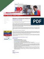 RENUNCIA A LA NACIONALIDAD VENEZOLANA