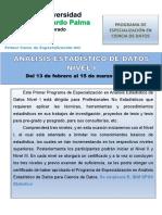 (01) PROGRAMA DEL PRIMER CURSO DE ESPECIALIZACIÓN EN ANALISIS ESTADISTICO DE DATOS.pdf