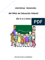 caracteristicas generales del niño de educacion infantil de 0 a 6 años