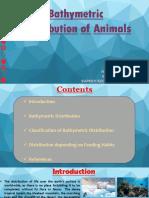 Bathymetric Distribution of Animals
