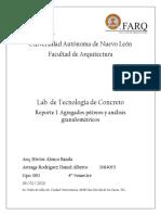 Reporte #1 Agregados pétreos y análisis granulométricos