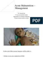 Severe Acute Malnutrition – Management
