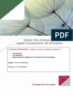 Exemple cahier des charges appel à formations en langues