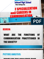 areas of specialization in communication.ppt
