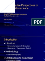 Communitarian Perspectives on Corporate Governance (Presentation)