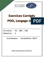 Java Exercice Corrigé IGE
