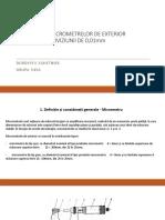 ETALONAREA MICROMETRELOR
