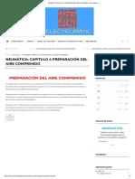 CAPITULO 4 PREPARACIÓN DEL AIRE COMPRIMIDO - Automatizacion