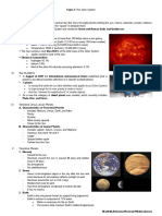 Topic 3 The Solar System