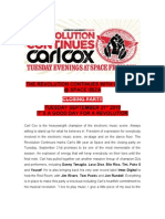 The Revolution Continues With Carl Cox at Space Ibiza 2010 CLOSING PARTY Press Release