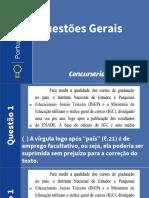 Português. Questões Gerais