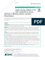 Risk factors for death among children 0-59 months of age with moderate to severe