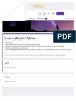 Kinetic Model of Matter   QUIZ