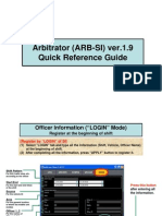 ARBTR( SI)Quick Reference Guide Ver1.9
