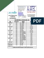 JSS Aviation EASA part 66 Exam Schedule Mar 2020