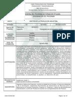 Informe Programa de Formación Titulada(tgo GPI)