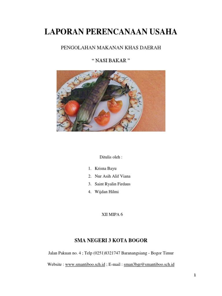 Pengolahan Dan Kewirausahaan Bahan Nabati Menjadi Makanan Khas Daerah Doc Pdf Download Contoh Makalah Lengkap