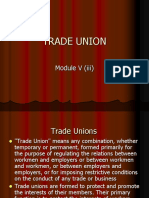 TRADE UNION -typesobjectives