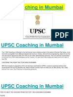 UPSC Coaching in Mumbai