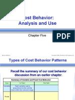 Cost Behavior Analysis & Use)