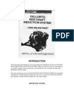 Dellorto Carb Install Instructions for 13b