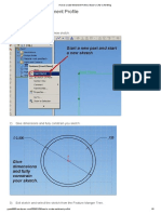 How to create Weldment Profile
