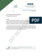 Case Study 2010 Leadership Crisis Challenge
