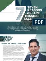 7 razones porque se pierden las ventas