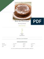Bolo de Chocolate - Receitas Nestlé