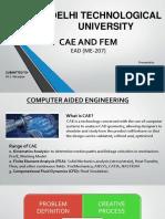 EAD (CAD, CAM AND FEM)