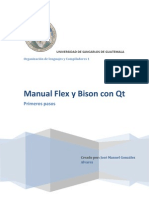 Manual Flex y Bison Con Qt