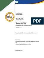 SUBAYBAYAN All Users Manual  v2.3