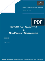 Industry 4.0 - Quality 4.0 & New Product Development