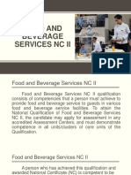 FOOD AND BEVERAGE SERVICES NC II Module 1