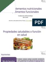 Clase Complementos nutricionales y alimentos funcionales