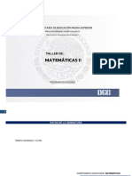 PROGRAMA DE  TALLER DE  MATEMATICAS II