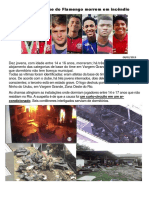 Atletas da Base do Flamengo morrem em incêndio