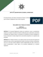 REGLAMENTO DEL TRABAJO DE GRADO IUDLM -  ENERO 2019